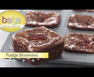 Fudge Brownie Squares – Bake with Anna Olson