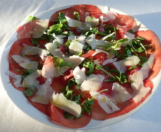 Bresaola, rocket and parmesan salad