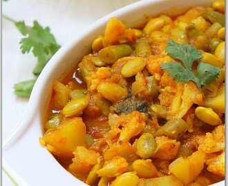 Mix Vegetables Curry. (Pressure-cooker Version)