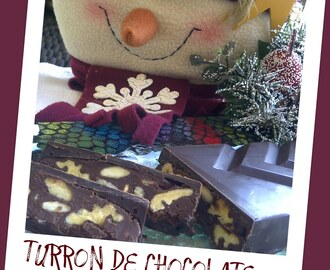 TURRON DE CHOCOLATE CON FRUTOS SECOS Y BRANDY