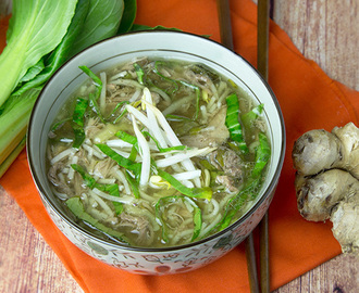 Slow Cooker Pork & Noodle Soup