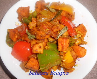 Sweet Potato Pepper Fry