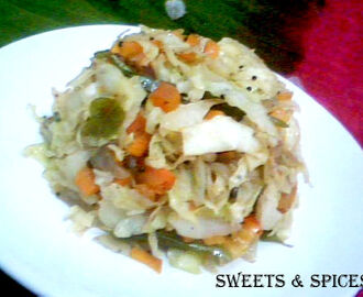 Cabbage Carrot Salad Curry