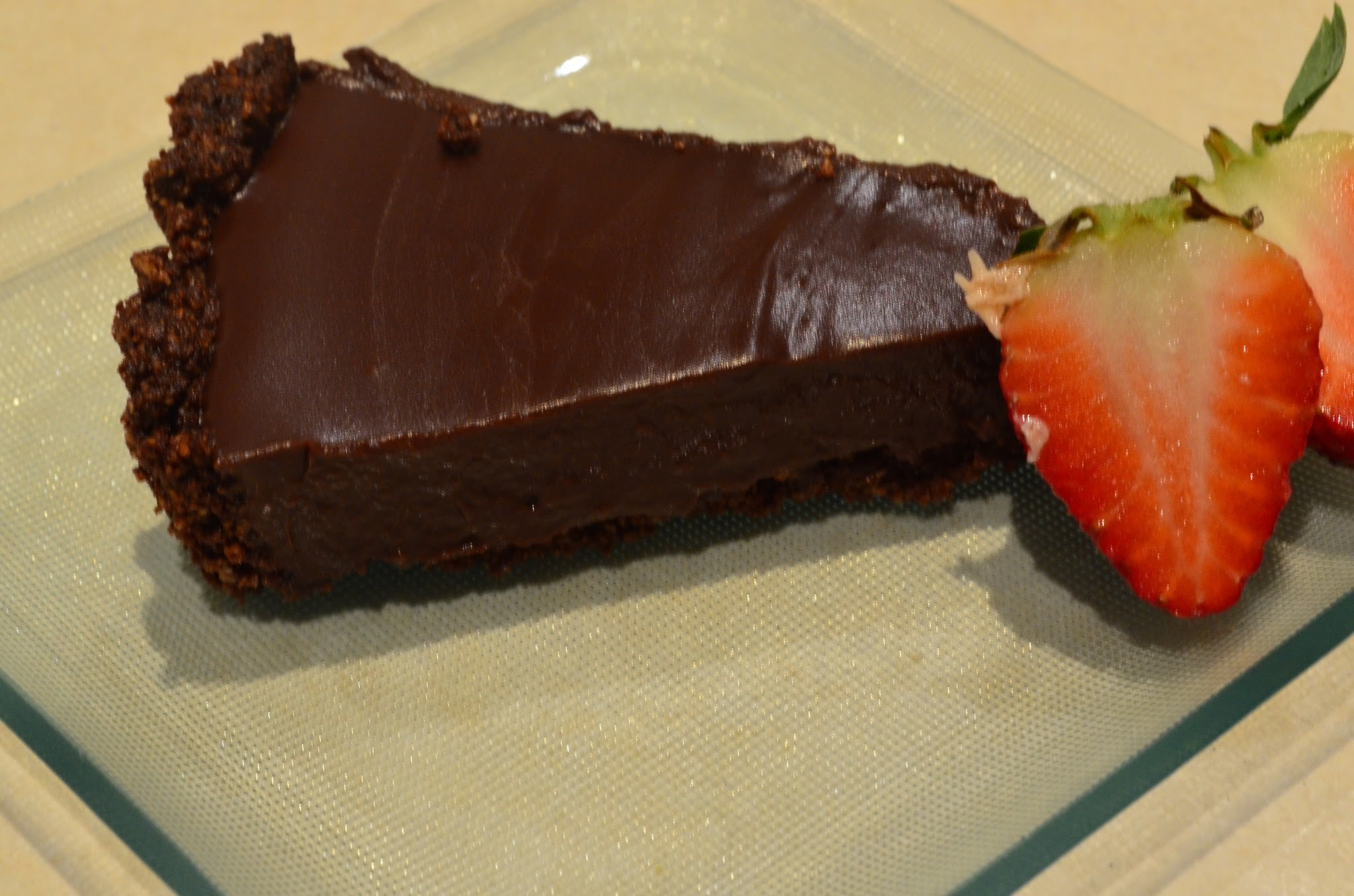 Hazelnut and chocolate tart
