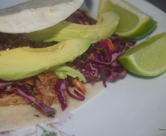 Mexican pulled pork with red cabbage salad