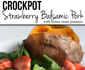 Crockpot Strawberry Balsamic Pork