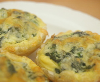 Mini Spinach & Ricotta Quiches
