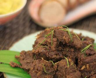 Recipe: Rendang Daging Tok Perak + Indian-style stir fried cabbage (Raya Special)