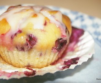 Lemon & Blueberry Yoghurt Cakes