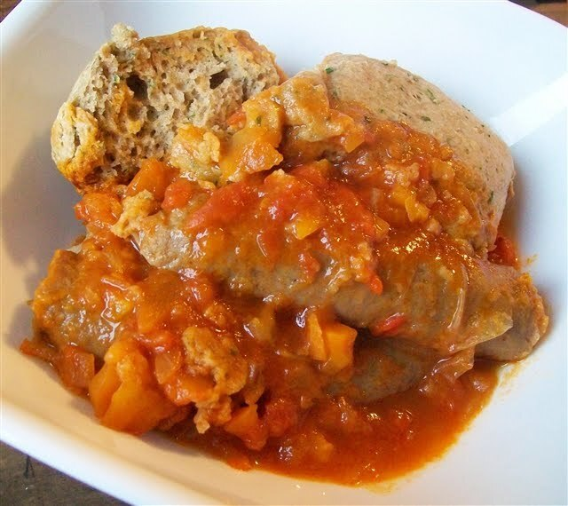 Sausage Casserole with Dumplings