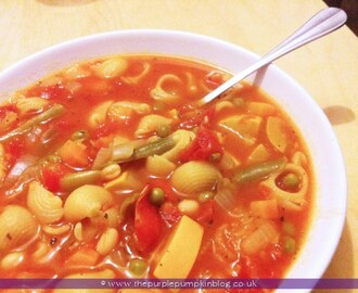 Minestrone Soup - {Low Calorie Recipe}
