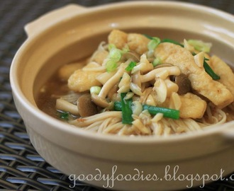 Recipe: Braised tofu pok with mushrooms (Vegetarian)