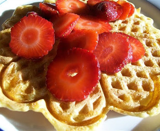 Blender-Batter Brown Rice Waffles or Pancakes