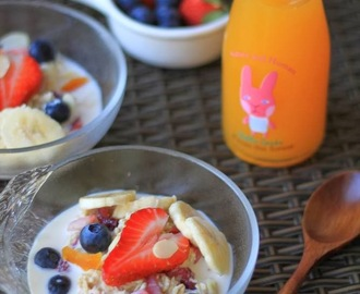Recipe: A Swiss/Scots Breakfast (Overnight Oats with Fresh Fruits & Nuts)