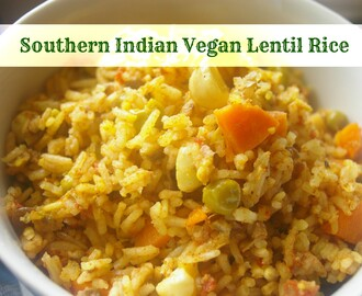 Southern Indian Vegan Lentil Rice