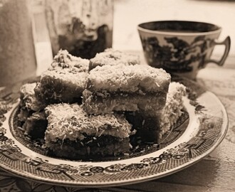 Sepia Saturday with Be-Ro, Tea Time Treats and Rich Jam and Coconut Cake Recipe