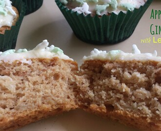 Apple & ginger cakes with lemon icing