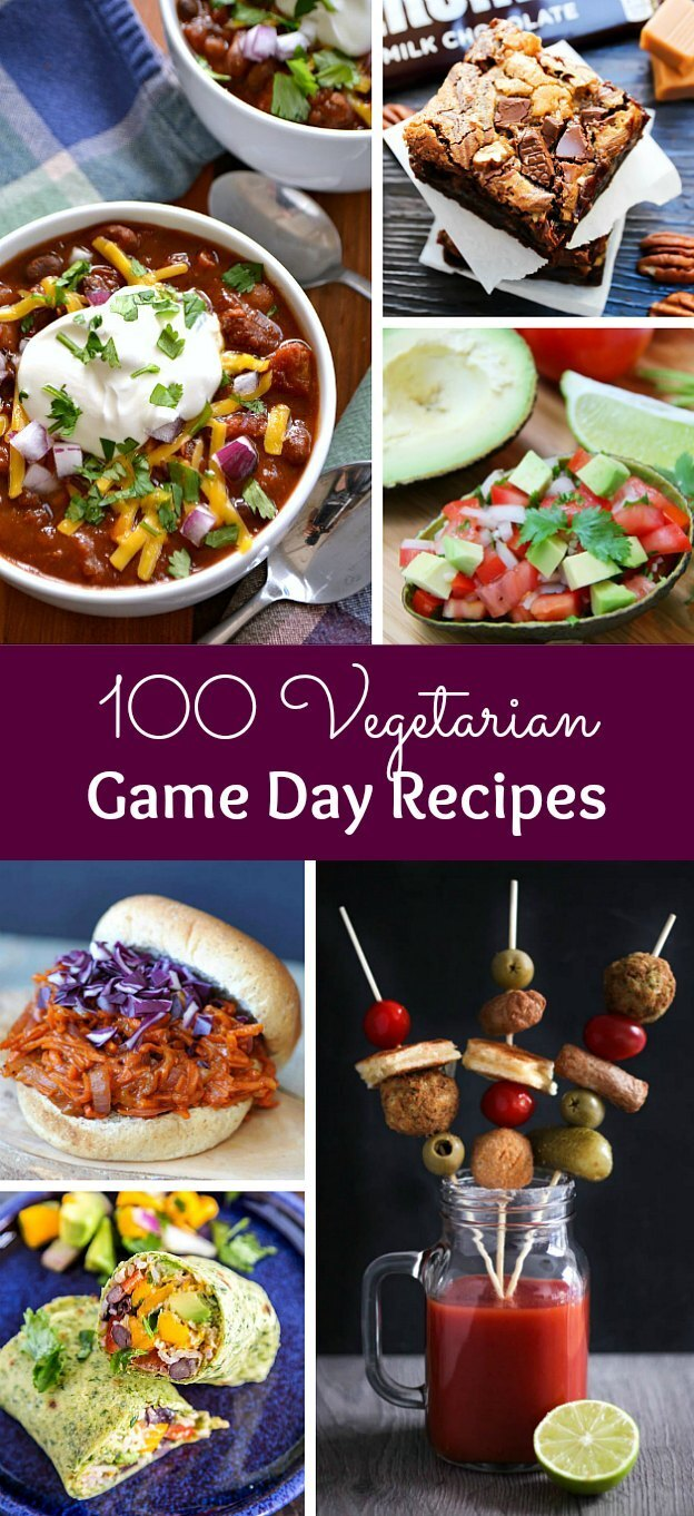 100 Vegetarian Game Day Recipes