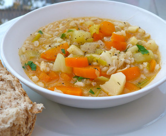 Recipe ~ Winter vegetable and barley soup