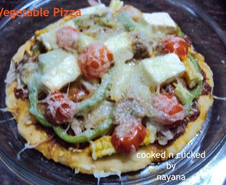 Vegetable Pizza ( Home Bakers Challenge )