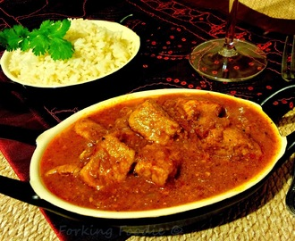 Pork Vindaloo Curry - Thermomix method