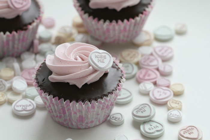 Chocolate Valentines Day Cupcakes