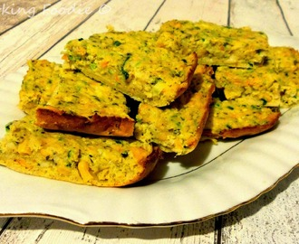 Easy Cheesey Vegetable Slice with Buckwheat (includes Thermomix instructions)