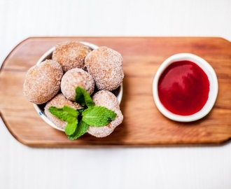 Dough Bros Donuts with Raspberry Coulis