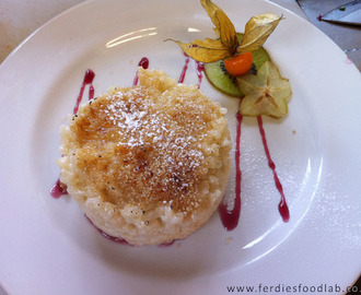 Ski series - Recipe: Rice Pudding w/ Crunchy Sugar Coating