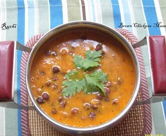 Brown Chick Peas Curry /Kala Chana Masala