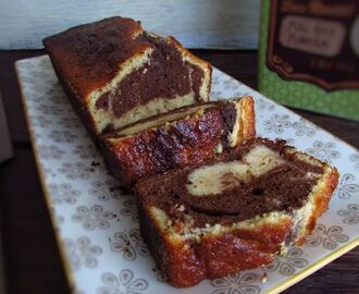 Chocolate lemon marble cake
