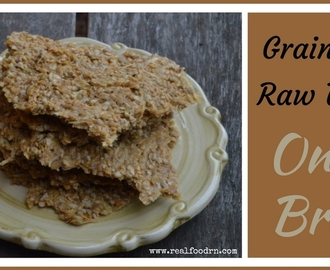 Addicting Grain Free Raw Vegan Onion Bread