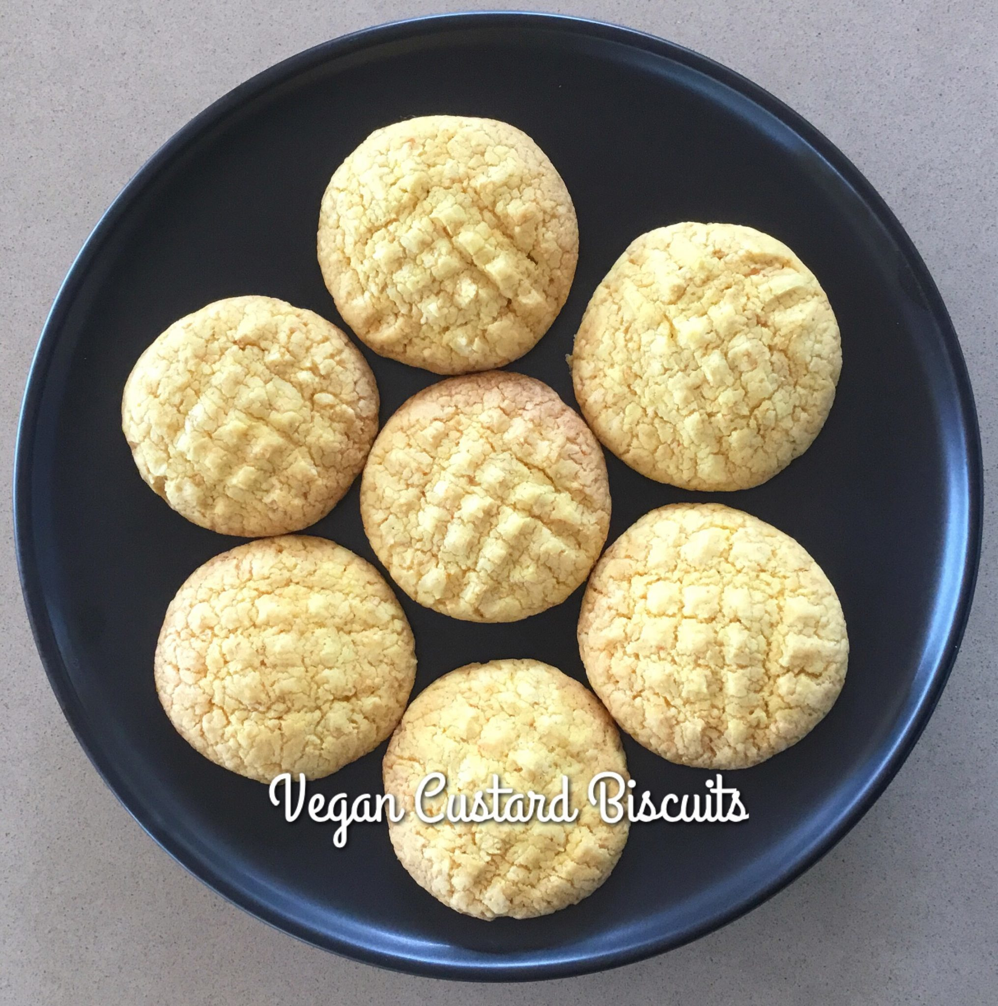 Custard Biscuits (Vegan & Sugar Free)