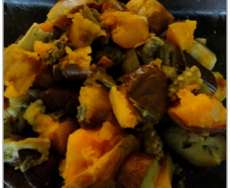 Aubergine/Eggplant and Butternut Squash Curry (Day 22: supper)