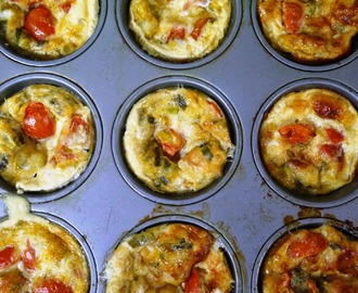 Mini Cherry Tomato No-Pastry Quiches