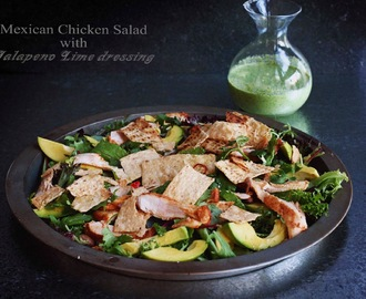 Mexican Chicken Salad with Jalapeno Lime Dressing