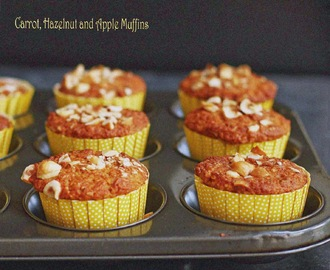Carrot, Hazelnut and Apple Muffins