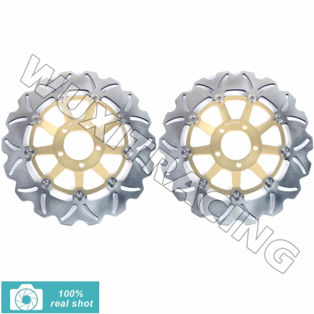 Motor New Front Brake Disc Rotors for KAWASAKI ZRX 1100 1200 R S 01 02 03 04 05 06 ZR 1100 1992-2005 Zephyr RS ZZR 1100 90-1993