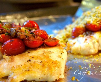 Herb Crusted Fillets with Tomato Salsa
