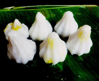 Modak (Rice dumpling stuffed with coconut and jaggery)