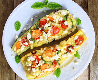 Tomato Feta Grilled Zucchini and Squash