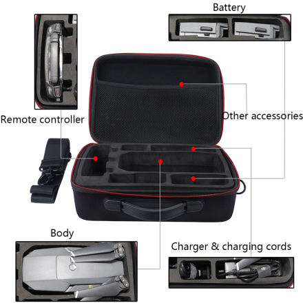 Drones Case for DJI Mavic Pro EVA Hard Portable Bag Shoulder Carry Case Storage Bag Water-resistant Portable For DJI Mavic Case