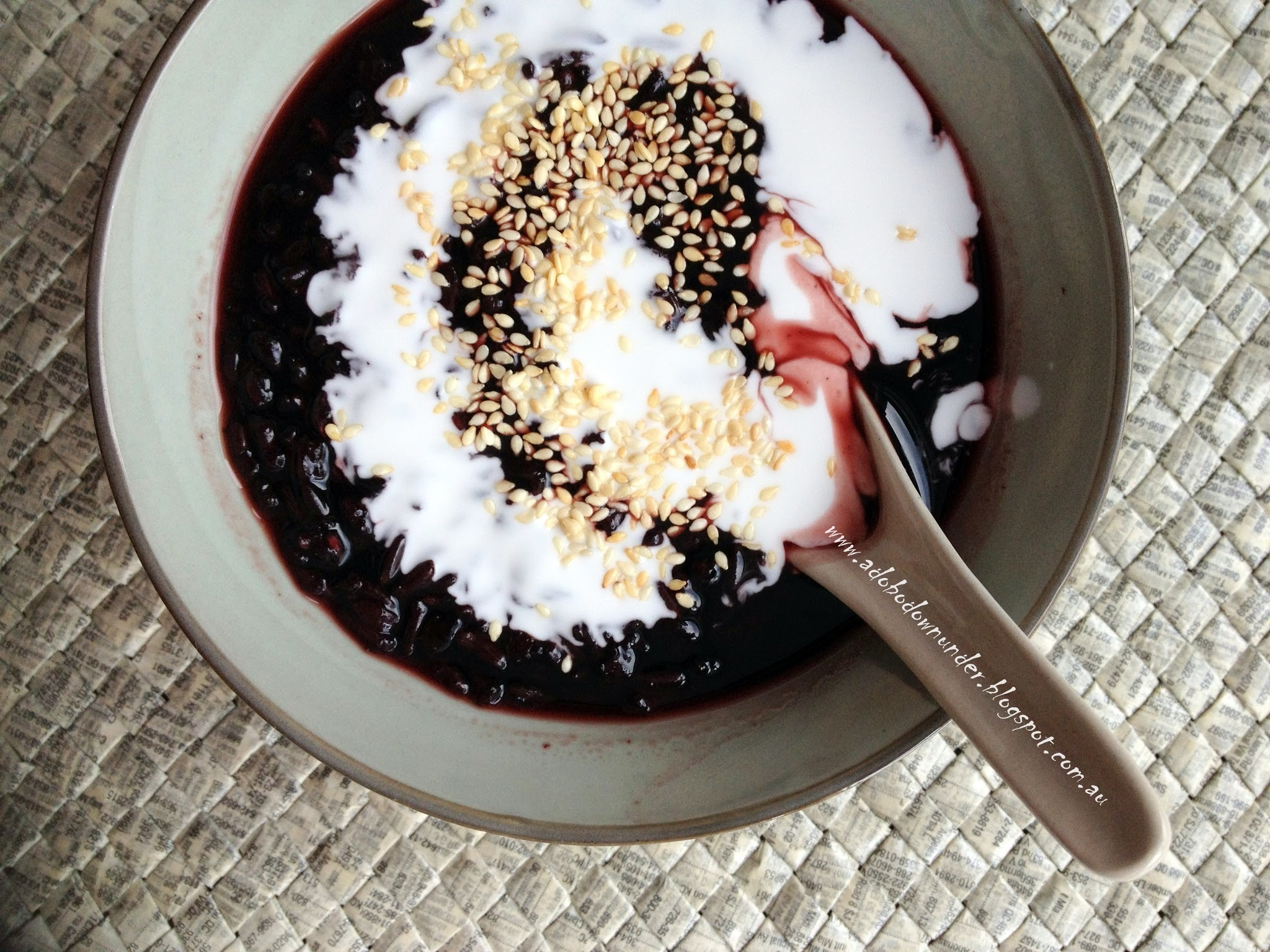Black sticky rice revisited