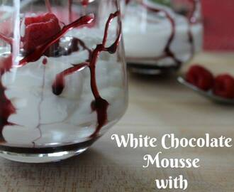 #12Daysof Valentine's Day Recipes {Day 4} White Chocolate Mousse with Reduction Dessert Sauce
