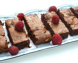 Raspberry Fudge Brownies for National Chocolate Week and We Should Cocoa #62