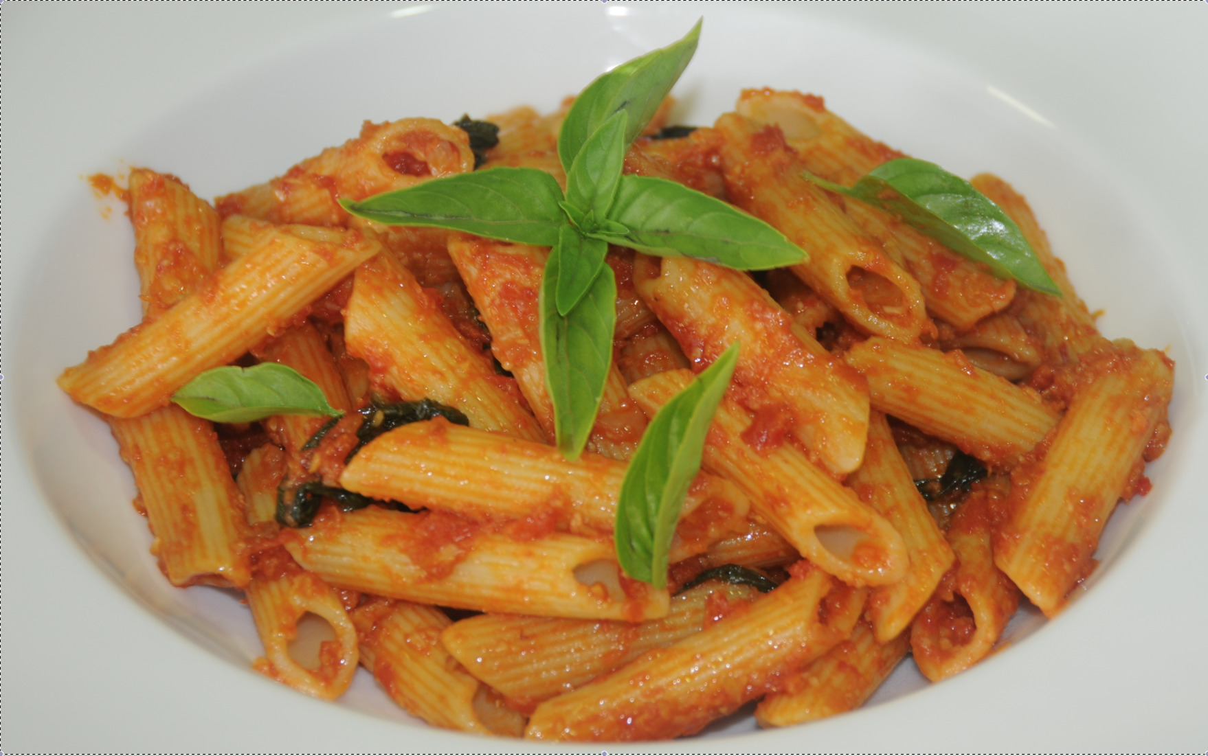 Pasta with Rich Tomato Herb Sauce