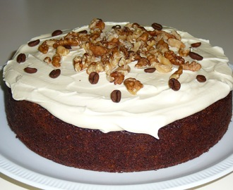 Coffee, Walnut and Amaretto Cake