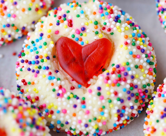 Swedish Fish Heart Cookies