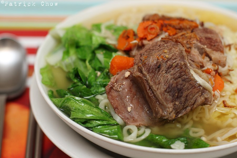 Saturday sleep-in beef noodles