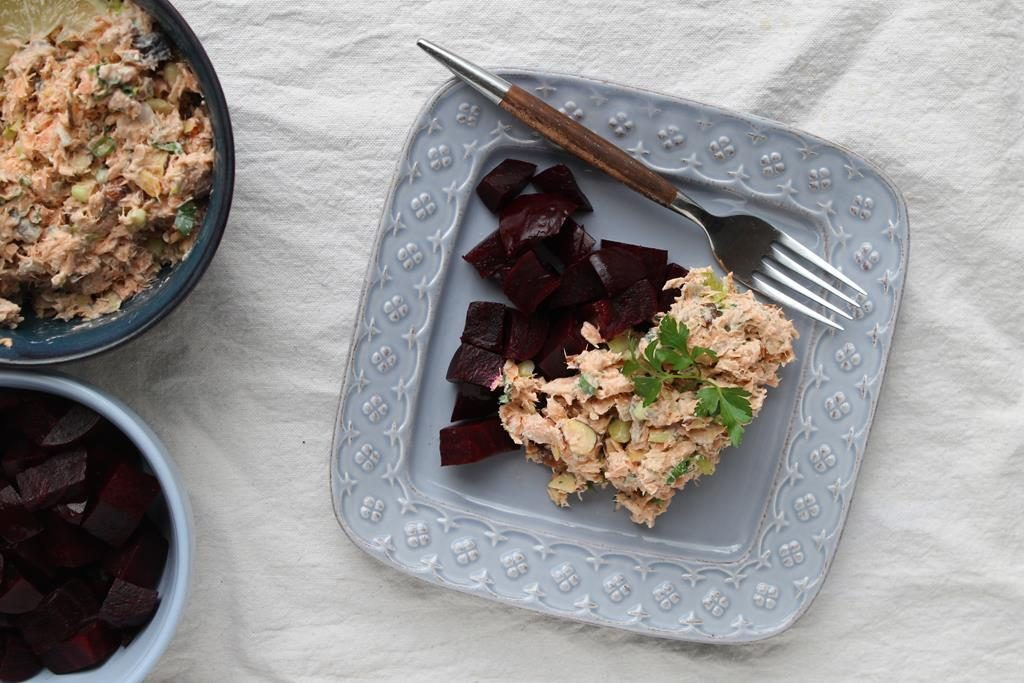 salmon salad with roasted beets recipe